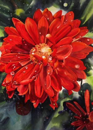 Tears of Passion Original Watercolor by Caroline Linscott